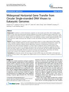 Widespread Horizontal Gene Transfer from Circular ... - BioMedSearch