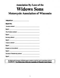 Widows Sons Motorcycle Association of Wisconsin