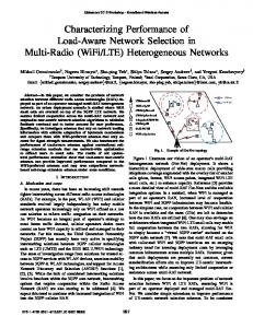 (WiFi/LTE) Heterogeneous Networks - IEEE Xplore
