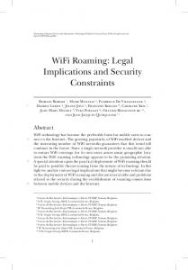 WiFi Roaming: Legal Implications and Security ... - IP Networking Lab