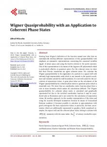 Wigner Quasiprobability with an Application to