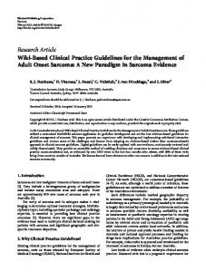 Wiki-Based Clinical Practice Guidelines for the Management of Adult