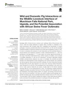 Wild and Domestic Pig Interactions at the Wildlife–Livestock ... - Frontiers