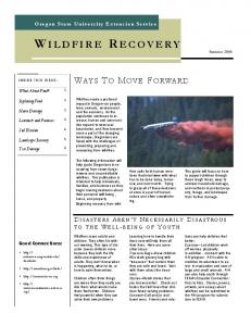Wildfire Recovery - Oregon State University Extension Service