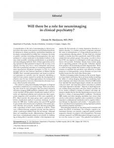 Will there be a role for neuroimaging in clinical