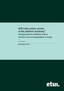 Will trade unions survive in the platform economy? - European Trade ...