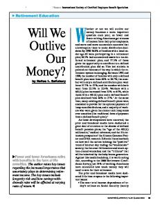 Will We Outlive Our Money?