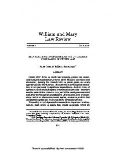 William and Mary Law Review - Semantic Scholar