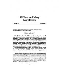 William and Mary Law Review - SSRN papers