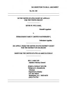 Williams v. Hermanson Family -- Brief as Amicus - Department of ...