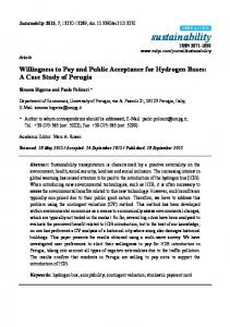 Willingness to Pay and Public Acceptance for