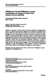 Willingness to Pay and Willingness to Accept ... - Springer Link
