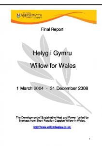 Willow for Wales - Forestry Commission