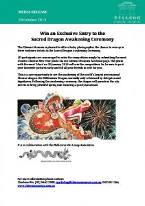 Win an Exclusive Entry to the Sacred Dragon Awakening Ceremony