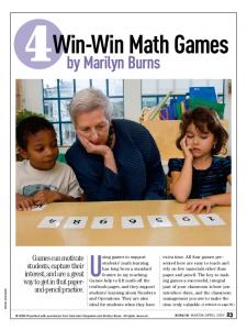 Win-Win Math Games - Math Solutions