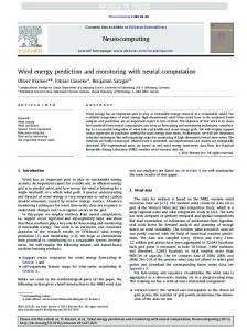 Wind energy prediction and monitoring with neural ... - windML