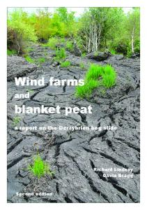 Wind farms blanket peat