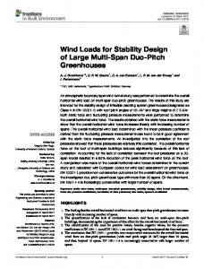 Wind Loads for Stability Design of Large Multi ... - Semantic Scholar