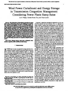 Wind Power Curtailment and Energy Storage in ... - IEEE Xplore