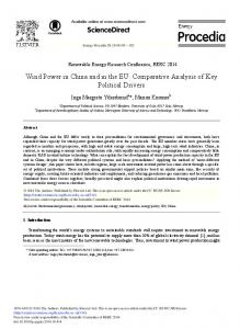 Wind Power in China and in the EU: Comparative ... - ScienceDirect