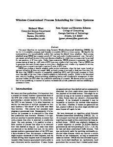 Window-Constrained Process Scheduling for ... - Semantic Scholar