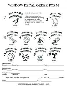 WINDOW DECAL ORDER FORM