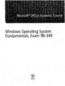 Windows operating system fundamentals, exam 98-349 - GBV