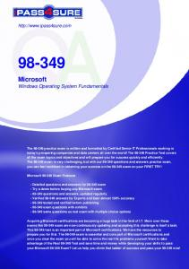 Windows Operating System Fundamentals - Pass4Sure