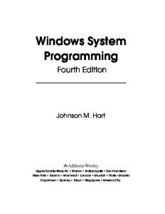 Windows System Programming - WordPress.com