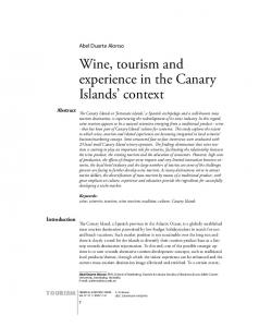 Wine, tourism and experience in the Canary Islands' context