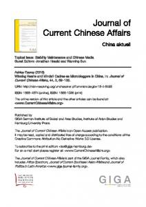 Winning Hearts and Minds? Cadres as Microbloggers in China ...