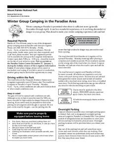winter Group camping in the Paradise area
