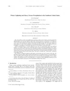 Winter Lightning and Heavy Frozen Precipitation in the ... - AMS Journals