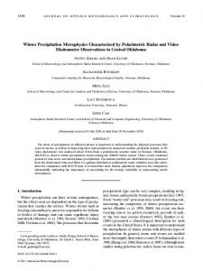 Winter Precipitation Microphysics Characterized by ... - AMS Journals