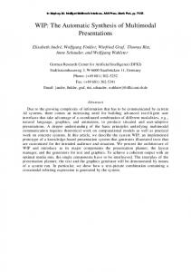 WIP: The Automatic Synthesis of Multimodal ... - Semantic Scholar