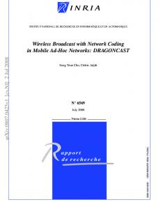 Wireless Broadcast with Network Coding in Mobile Ad-Hoc Networks
