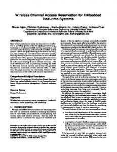 Wireless Channel Access Reservation for ... - Semantic Scholar