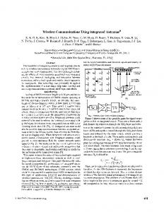 Wireless communications using integrated antennas ... - IEEE Xplore
