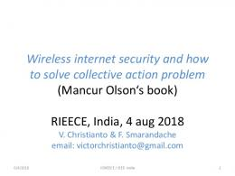 Wireless internet security and how to solve collective