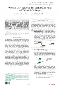 Wireless LAN Security - World Journal of Research and Review
