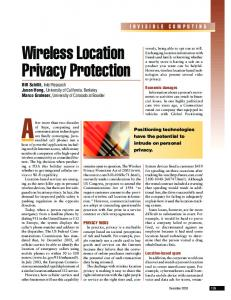 Wireless location privacy protection - Computer - Rutgers WINLAB