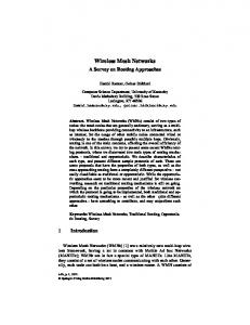 Wireless Mesh Networks - Computer Science Department - University ...