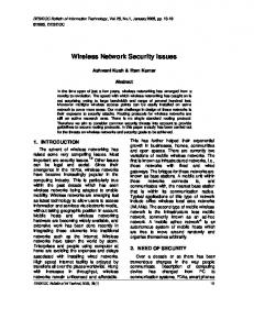 Wireless Network Security Issues