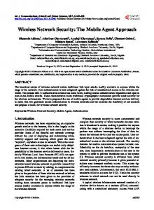 Wireless Network Security: The Mobile Agent Approach