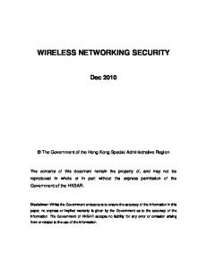 WIRELESS NETWORKING SECURITY