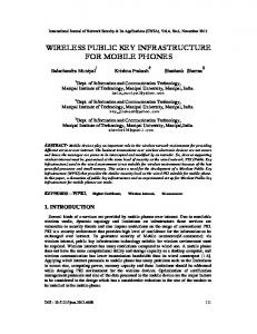 wireless public key infrastructure for mobile phones - arXiv