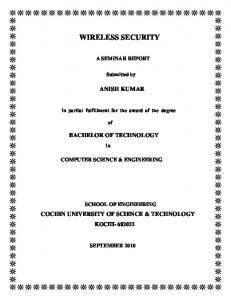 WIRELESS SECURITY.pdf - DSpace at CUSAT