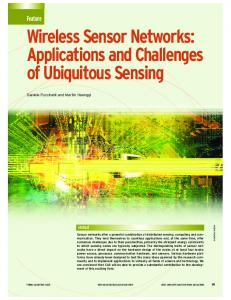 Wireless Sensor Networks: Applications and ... - Semantic Scholar