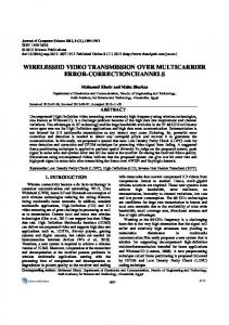 wirelesshd video transmission over multicarrier ... - Semantic Scholar