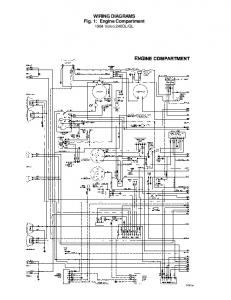 WIRING DIAGRAMS Fig. 1: Engine Compartment 1984 Volvo 240DL/GL